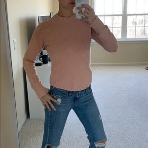 Jcrew blush super stretchy sweater
